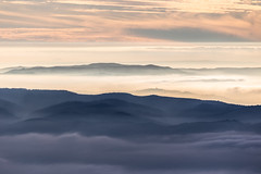 Another world (Massimo_Discepoli) Tags: fog mist sunset surreal landscape moody mountains epic sky