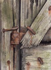 portone (-valarian-) Tags: valarcolour acquerello watercolour ruggine