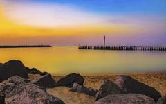 Seascape Oostende (ost_jean) Tags: ostend oostende blue sky longexposure langesluitertijd blauw sea zee ostjean nikon d5300 tamron sp af 1750mm f28 xr di ii vc ld