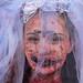 Young zombie bride