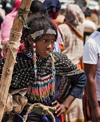 Afar Girl (Rod Waddington) Tags: africa african afrique afrika äthiopien ethiopia ethiopian ethnic ethnicity etiopia ethiopie etiopian afar tribe traditional tribal girl culture cultural child candid streetphotography street market regalia beads portrait people group