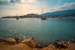 The anchorage.... (Dafydd Penguin) Tags: sea water medietrranean aegean greece saronic gulf poros island boats boating sail sailboat yachting yacht sailing anchor anchorage mooring harbour bay port dock waterside harbourside seashore leica m10 voigtlander 21mm color skopar f35 vintage line