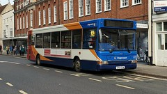 Stagecoach South 34518 (GX04 EXM) Chichester 21/10/19 (jmupton2000) Tags: gx04exm transbus plaxton pointer dennis dart slf stagecoach south uk bus southdown coastline sussex