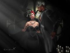 BLACK WEDDING (Rachel Swallows Inworld Elenamicheals Core) Tags: alaskametro astroidbox catwa exilehair fashion gown halloween indulgetemptation lana legacy lode secondlife trunkshow wedding
