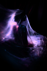 Katya (kramskayaphoto) Tags: portrait monochrome black bnw girl blue plastic gothic