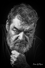 L'homme en colère (Ivan LE ROUX) Tags: portrait homme nb colere noiretblanc