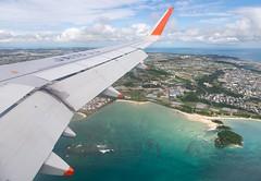 Landing in Naha (twomphotos) Tags: inflightimpressions wingview sea ocean blue culture nature