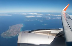 Departing from Naha (twomphotos) Tags: inflightimpressions wingview sea ocean blue culture nature