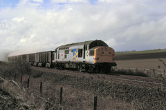 Buston Barns 37190 down dolofines 4th April 89 C11839 (DavidWF2009) Tags: ecml northumberland bustonbarns class37