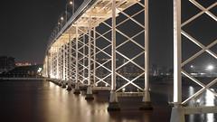 橋 (kevinho86) Tags: 50mm eosr art architecture bridge 橋 night nightscape canon colour city cityscapes citylights citynights macao macau 澳門 water 海 海邊 海岸 海灘 169 建築