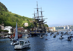 recibimiento (gabrielg761) Tags: fragata puerto pasajes pasaia francia francesa l´hermione