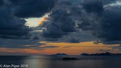 Cavtat Sunset (PapaPiper) Tags: cavtat croatia europe mediterranean adriaticcoast clouds moodysky orange grey light dusk sunset eveninglight evening eveningsky seascape sea islands canon6d
