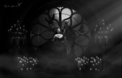 BLACK WEDDING (Rachel Swallows) Tags: wedding goth gothic vampire halloween blackandwhite love romance