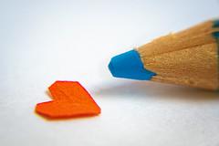 Heart and pencil (@magda627) Tags: stationery macro macromondays pencil closeup hmm heart tiny flickr color