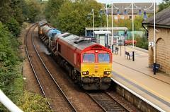 DB Cargo 66206 & 66079 - Mansfield Woodhouse (the mother '66' 66001) Tags: dbschenker dbcargo ews rhtt 3j89 toton sandiacre mansfield mansfieldwoodhouse class66 66206 66079 robinhoodline ukrailways nottinghamshire nottinghamshirerailways networkrail rail