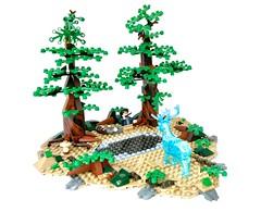 Lego - Harry Potter and Dementors at Lake (flambo14) Tags: harry potter moc movie art scene lake warner brothers dementor bricks mystery vignette minifigures figure battle wand rowling hogwarts