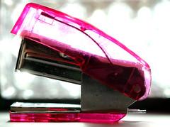 Pink Mini Stapler, Macro Mondays (francepar95) Tags: macromondaysstationery macro theme challenge stapler pink bokeh