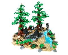 Lego - Harry Potter and Dementors at Lake (flambo14) Tags: harry potter moc scene hogwarts mystery vignette dementor bricks rowling magic warner brothers battle wand art figure minifigures movie azkaban lake