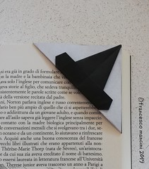 Witch hat bookmark (mancinerie) Tags: origami paperfolding papiroflexia papierfalten francescomancini mancinerie halloween halloweenorigami witch hat bookmark