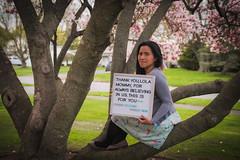 master's dedication (jojoannabanana) Tags: 3652019 flowers magnolia people portrait self spring tree