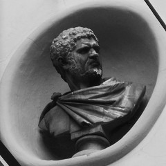You talkin' to me? You talkin' to me? You talkin' to me? (Matteo Allochis) Tags: square 11 caracalla emperor neoclassical firenze statue sculpture anger toscana tuscany bust roman