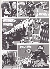 Leidplanken / Seite 11 (micky the pixel) Tags: comics comic bandesdessinées fumetto album satire kritik technik auto car rotpunktverlag sambaloelek andreasmüller leidplanken unfall accident