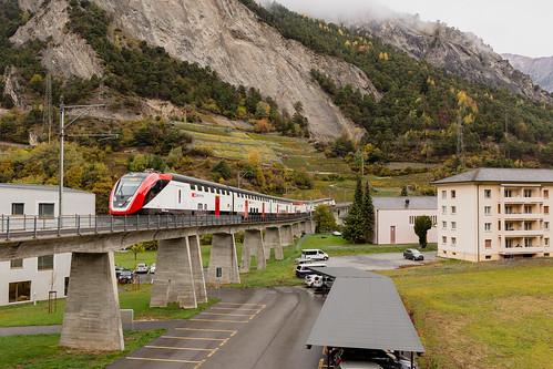 CFF RABDe 502 Twindexx à Sembrancher dans le Val de Bagnes
