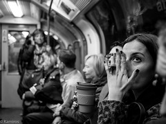 Hand (sladkij11) Tags: bw biancoenero blackandwhite mano underground london streetphotography olympus penf people eye