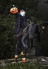 "Headless Horseman from Sleepy Hollow (Jack Blackstone) Tags: ""fantasticmonday"" street 2019 halloween em1mkii on1 moody headlesshorseman sleephollow folklore americana scary display fantasy legend lowkey creepycreatures smileonsaturday"