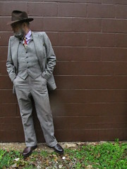 10-21-2019 Today's Clothes (Michael A2012) Tags: this mans autumn style vintage fashion dobbs sixteen fifty fedora hat fur felt 1940s pdc international wool tweed half belt three piece suit polo ralph lauren yarmouth cotton rooster silk paisley nerra pocket square