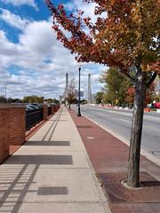 The Ohio State University (dankeck) Tags: laneavenue red leaves autumn fall laneavenuebridge clouds theohiostateuniversity osu ohio ohiostate columbus centralohio franklincounty