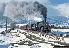 Pony Ride (jamesbelmont) Tags: southernpacific hebercreeper 260 baldwin steam passenger tourist caspervilleroad charleston utah snow plume kodachrome film train railroad railway locomotive