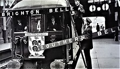 Changing The Boards For The Brighton Belle. (ManOfYorkshire) Tags: brighton belle brightonbelle train railway thirdrail route4 boards change name nameboards southernbelle electric multiple unit emu southern pullman britishrailways region nostalgia history london victoria station