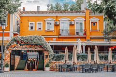 Yellow (Borislav Aleksiev) Tags: fujifilm xt3 spain travel aranjuez stone old blue sky clouds food drink building exterior white green plant orange yellow