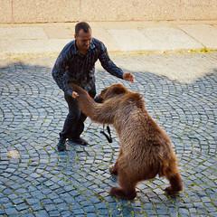 It's Russia baby :) (VladimirTro) Tags: россия санктпетербург квадрат медведь стрит russia russian saintpetersburg street candid bear man square canon500d