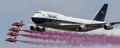 Big Bird (keithbrooks) Tags: fairford riat boeing 747400 boac red arrows hawk nikond810 tamron150600 aircraft airshow