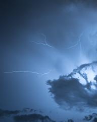 Tornado cell over Richardson, TX (scottryantucker) Tags: richardson texas dallas tornado october storm storming stormy cloud clouds lightning night nighttime rain rainstorm wind windy long exposure
