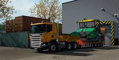 (gripshotz) Tags: scania g 440 6x2 wielton trailer heavy wheight oversize euro truck simulator ets 2