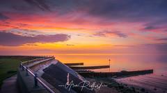 Gunners Park Sunrise (Aron Radford Photography) Tags: southend sea southendonsea essex thorpe bay shoeburyness sunrise dawn defences beach coast railing walk path nature reserve