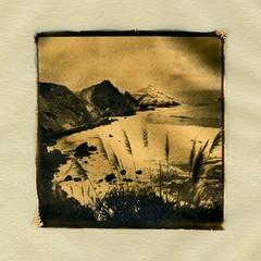 Big Sur, California. (Dguyzé) Tags: goldleaf vellum vellumpaper orotone bwitype itype polaroidoriginals polaroid instantfilm instantlab instantlabuniversal impossibleinstantlab emulsionlift roidweek2019 polaroidweek2019