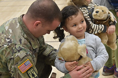 Wisconsin National Guard (The National Guard) Tags: wing nationalguard wisguard wisconsinnationalguard wi wisconsin families friends formal sendoff send off ceremony milfam military father daughter stuffed animal teddy bear ng national guard guardsman guardsmen soldier soldiers airmen airman us army air force united states america usa troops 2019