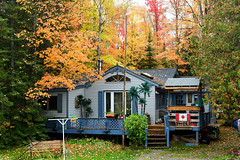 Cottage Along the Trent (Anthony Mark Images) Tags: canada canadianflags changingleaves coloursoffall ontario orange yellow green fallenleaves fall autumn red cottage trentcanal nikon d850 flickrclickx