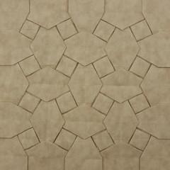 Woven Parallelograms Tessellation (back) (Michał Kosmulski) Tags: origami paperart tessellation rhombi squares pattern geometry michałkosmulski goatskinpaper beige cream