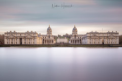 The Old Royal Naval College (Nathan J Hammonds) Tags: uk greenwich naval college sir cristopher wren long expose thames london nd filters water calm skies clouds movement architecture history colour nikon d750