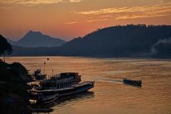 Luang Prabang – Mekong River sunset (Thomas Mulchi) Tags: luangprabang laos 2019 people person persons river sunset mekong mekongriver boat boats mountain mountains happyplanet asiafavorites