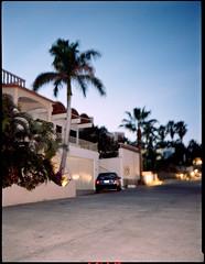 Visions from the Baja California Sur (Brjann.com) Tags: winner alt fuji ga645 120 film kodakfilm kodak analog portra160 portra 160 car vintage newtopographics palm trees sunset colors