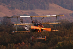 Mikael Carlson in his Fokker Dr.1 (Michal Jeska) Tags: oldtimer ww1 greatwar fokker dr1 triplane dreidecker mikaelcarlson kirchheim hahnweide canoneos7d canon7d canonef400mmf56lusm