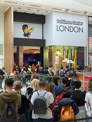 Pokemon Center London in Westfield Shepherds Bush, London (baldychops) Tags: spend indoors indoor people shoppers popular temporary popupshop popup queue shoppingcentre shops city westfieldshepherdsbush shepherdsbush westfield london pokemoncentre pokemoncenter center centre shop pokemon