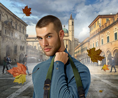 Ascoli between leaves and wind (irestless) Tags: ascoli arm arms air allaperto body beard blue colors chest clouds city eye eyes men face hairy hair hot hand irestless lips light wind mist man model models muscles male moustache new original uomo color portrait persone person sky square leaves church bell tower
