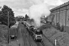 Class 9F on Passenger Duties (garstangpost.t21) Tags: 92214 gcr greatcentralrailway steam loco steamlocomotive britishrailways loughborough leicestershire passengertrain
